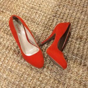 Bright Orange Statement Heels